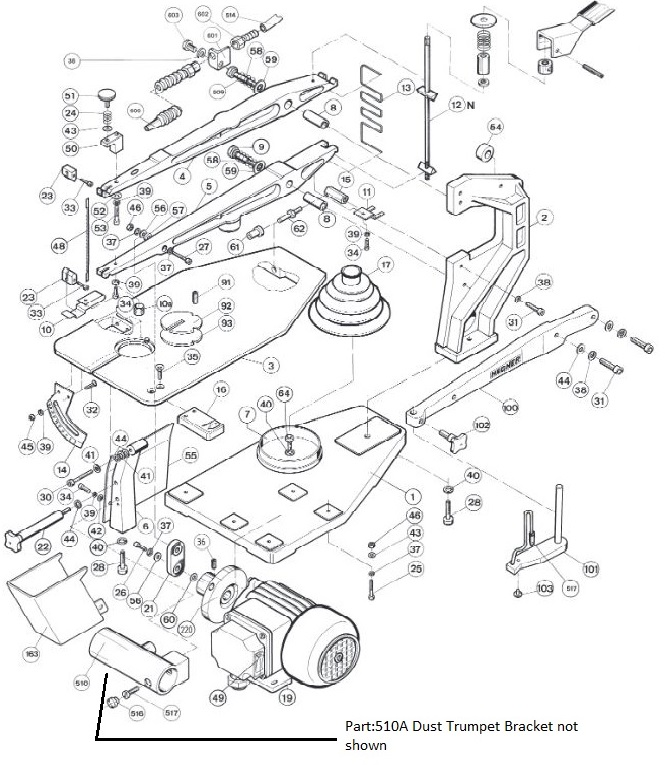 Hegner Parts Diagrams